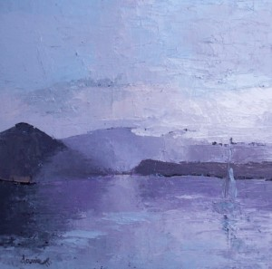 peinture lac du Bourget savoie artiste peintre