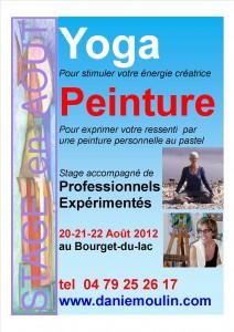 stage peinture et yoga le bourget du lac savoie