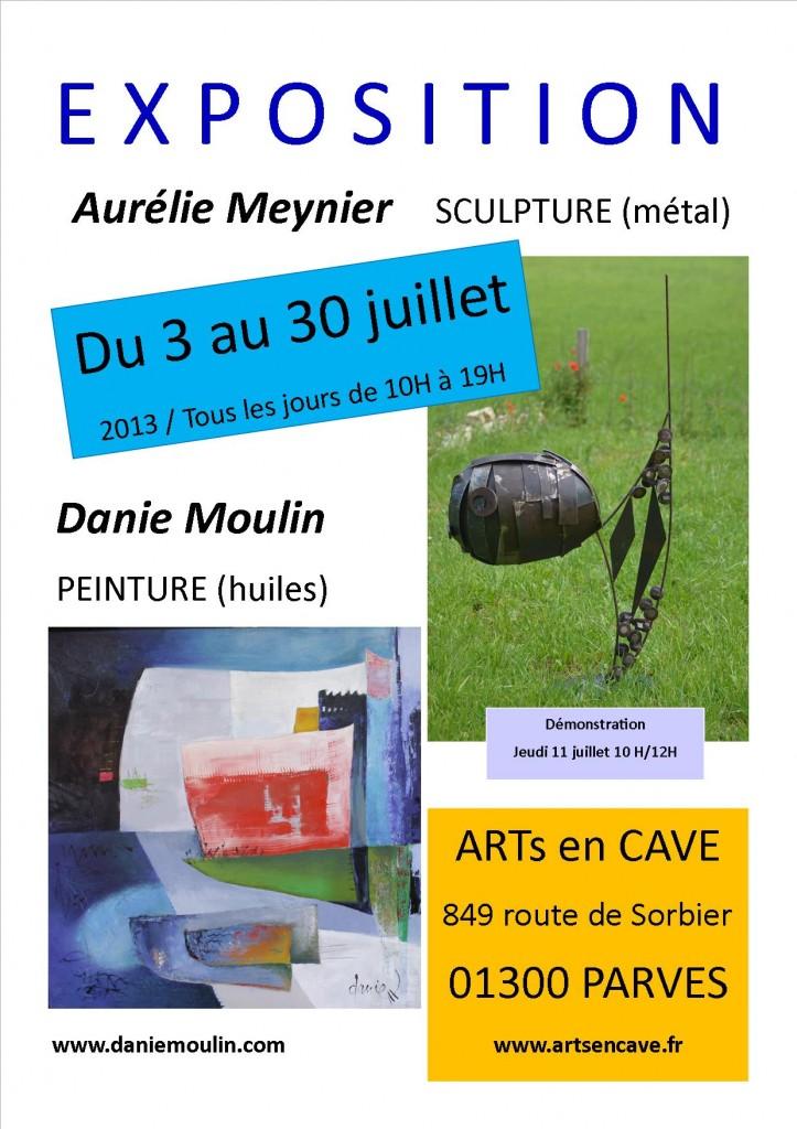 exposition peinture savoie bourget du lac danie moulin